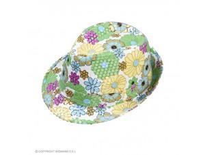 Αποκριάτικο μαλακό καπέλο με λουλούδια