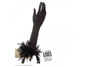 Αποκριάτικα ελαστικά γάντια με φτερά