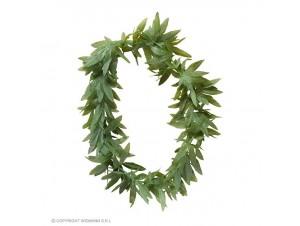 Αποκριάτικο στεφάνι με πράσινα φύλλα