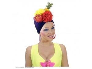 Αποκριάτικο καπέλο με φρούτα και λουλούδια