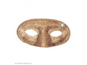 Αποκριάτικη χρυσή μάσκα με γκλίτερ