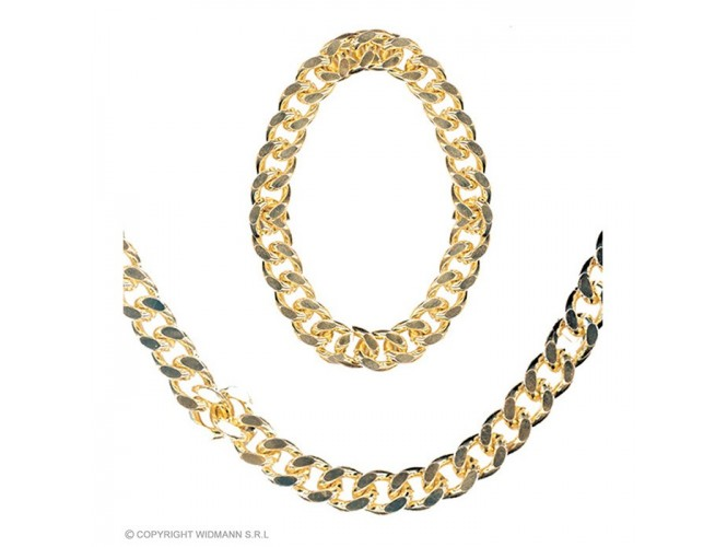 Αποκριάτικο χρυσό Set κοσμήματων