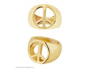 Αποκριάτικο χρυσό δαχτυλίδι Ειρήνης