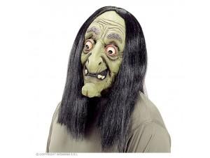 Αποκριάτικη μάσκα Μάγισσας με περούκα