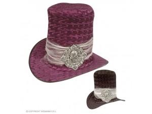 Αποκριάτικο ψηλό βελούδινο καπέλο