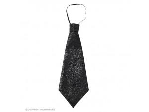 Αποκριάτικη μαύρη γραβάτα με λάστιχο