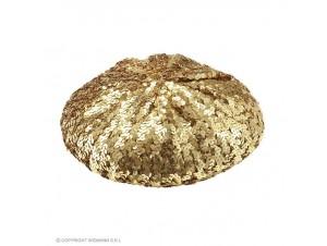 Αποκριάτικο χρυσό καπέλο με παγιέτες
