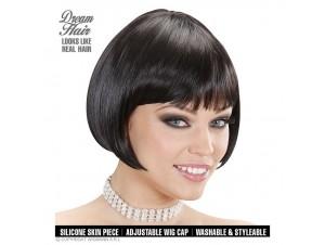 Αποκριάτικη περούκα μαύρη κοντή