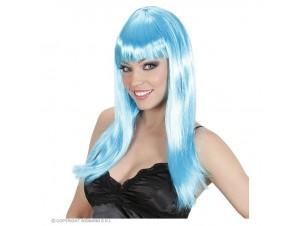 Αποκριάτικη περούκα μπλε μακριά
