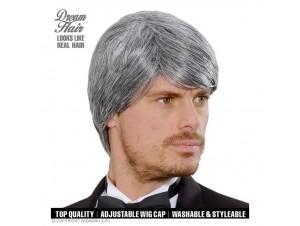 Αποκριάτικη αντρική γκρίζα περούκα