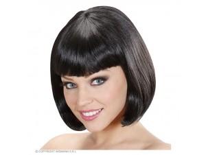 Αποκριάτικη μαύρη περούκα κοντή