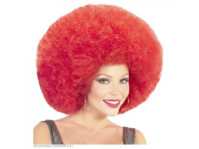 Αποκριάτικη κόκκινη άφρο περούκα