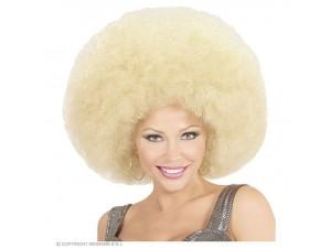 Αποκριάτικη ξανθιά άφρο περούκα