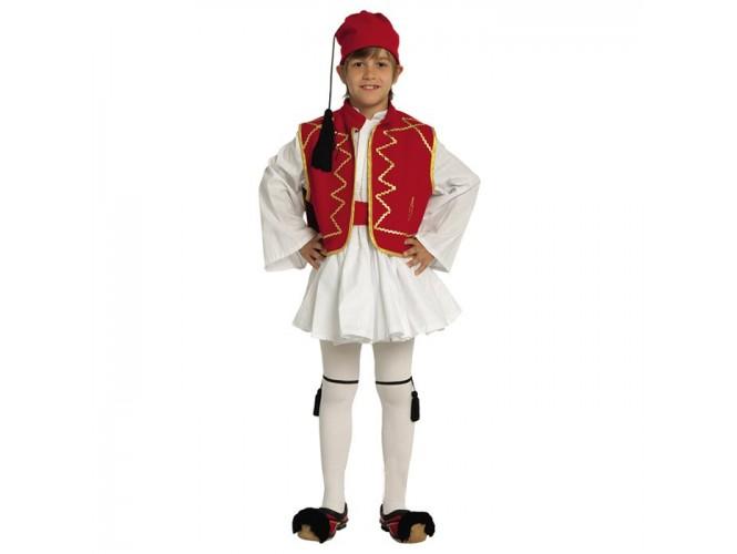 Παιδική Παραδοσιακή Στολή Τσολιάς Κόκκινος 16