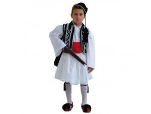 Παιδική Παραδοσιακή Στολή Τσολιάς Μαύρος -Λευκός 8 - 16