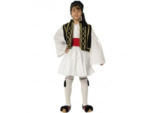 Παιδική Παραδοσιακή Στολή Τσολιάς Μαύρος-Χρυσός 8-16