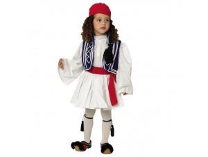 Παιδική Παραδοσιακή Στολή Στερεά Τσολιαδάκι Μπλε 4 - 6