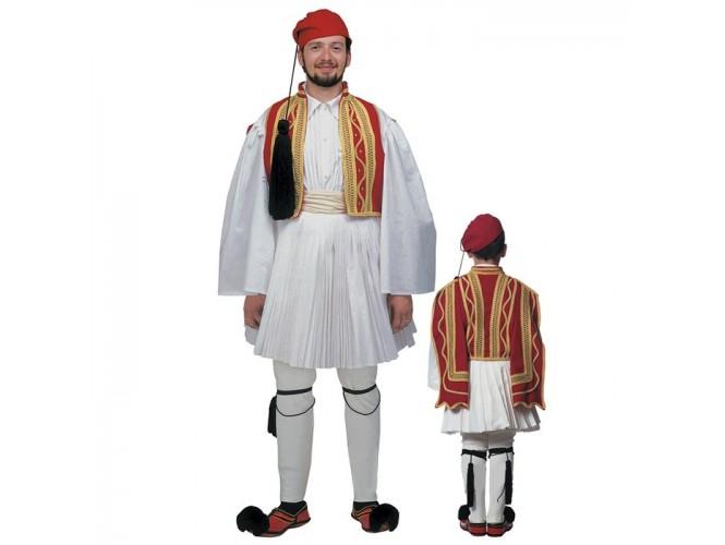 Παραδοσιακή Στολή Εύζωνας Κόκκινο Γιλέκι