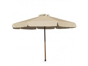 Ομπρέλα Ξύλινη Στρογγυλή PRO