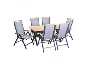 MEDITERRANEO-Τραπέζι αλουμινίου-polywood