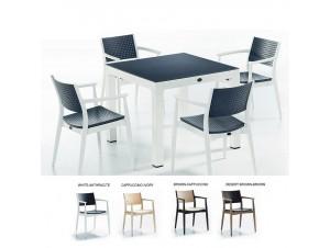 SEGINUS τραπέζι κήπου 90x90