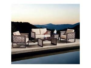 SALDO Lounge Set Σαλόνι κήπου αλουμινίου