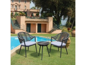 Καθιστικό Set 3 τμχ. Αλουμινίου με ιμάντες