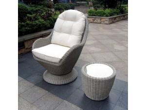SEASHELL καθιστικό Rattan Set 2 τμχ.