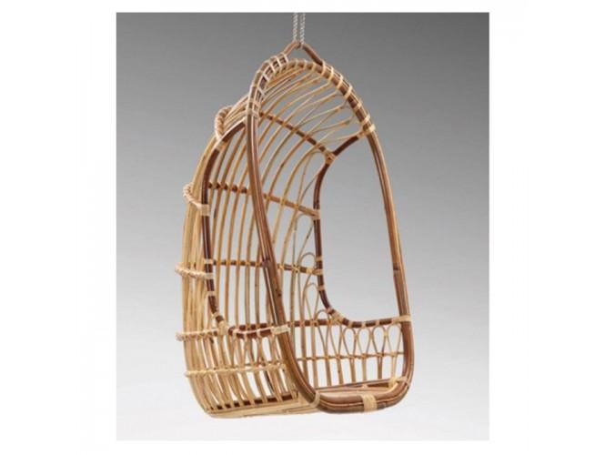 Πολυθρόνα κρεμαστή από φυσικό Rattan