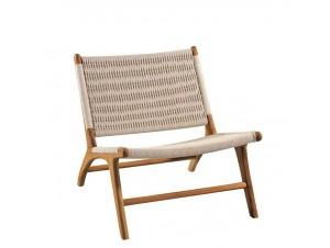 Καρέκλα Teak με πλέξη από πλέξη κορδόνι