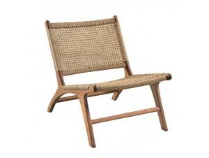 Καρέκλα Teak με πλέξη από πλέξη Rattan