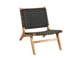 Καρέκλα DELHI Lounge με πλέξη από ιμάντες