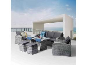 Belmar Set Καθιστικό-Τραπεζαρία Rattan