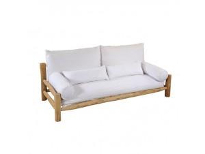 Τριθέσιος Καναπές από κορμούς Teak