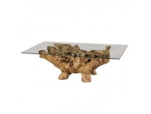 Τραπέζι από φυσικούς κορμούς