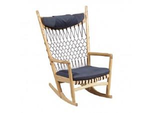 Πολυθρόνα Κουνιστή ξύλινη