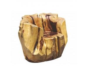 Πολυθρόνα από μασίφ ξύλο