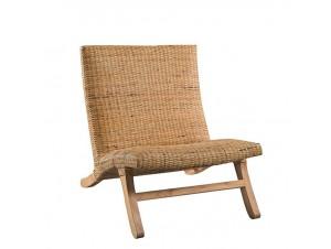 Καρέκλα με πλέξη από φυσικό Rattan