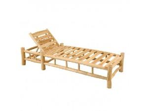 Ξαπλώστρα από κορμούς ξύλου Teak