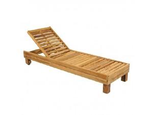 Ξαπλώστρα από ξύλο Teak τροχήλατη