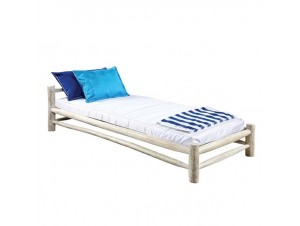 Ξαπλώστρα κρεβάτι από κορμούς ξύλου Teak