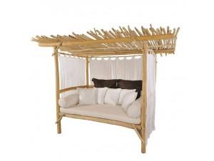 Καναπές-κρεβάτι από Teak με σκέπαστρο