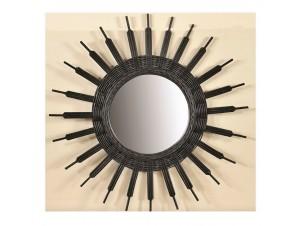 Καθρέφτης Στρογγυλός από φυσικό rattan