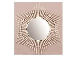 Καθρέφτης αστέρι από φυσικό rattan