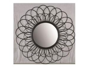 Καθρέφτης με πλέγμα από φυσικό rattan