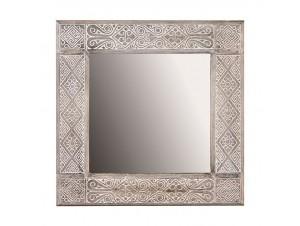 Καθρέφτης σκαλιστός σε ξύλο Teak