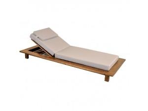 Ξαπλώστρα ξύλινη με ανάκλιση πλάτης