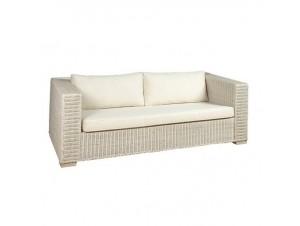 Καναπές με πλέξη από φυσικό Rattan 6041 W