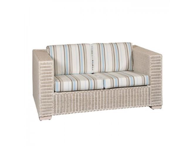 Καναπές 3 θέσεων με πλέξη από φυσικό Rattan 2091 W