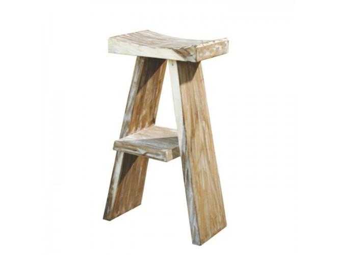 Σκαμπό bar από ξύλο Teak